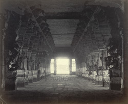 Madura. Trimul Naik's Portico [Pudu Mandapa]. Interior from west end